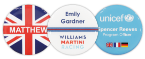 Circle Name Badges | www.namebadgesinternational.co.uk